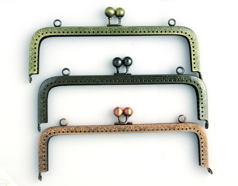 Фермуар (рамочный замок) прямоугольный, 20.5 см (выбрать цвет)