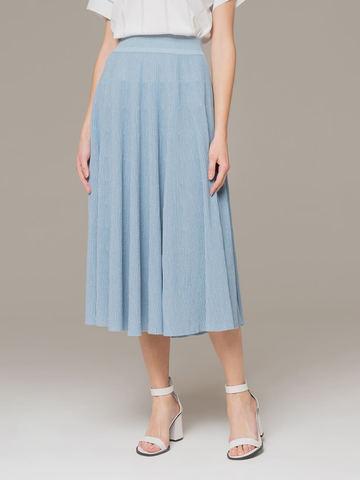 Женская юбка-миди голубого цвета - фото 2