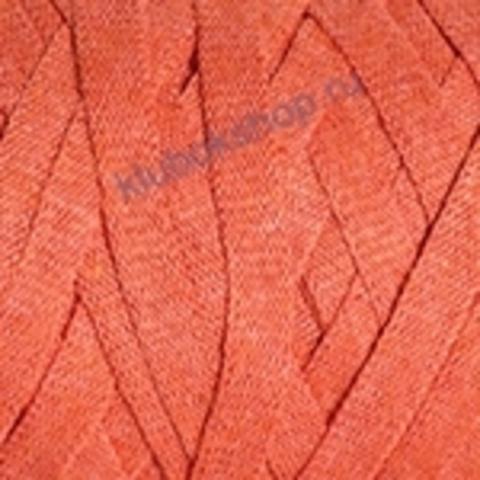 Ленточная пряжа YarnArt Ribbon цвет 770 терракот.