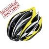 Велошлем Cigna WT-015 (чёрный/жёлтый/серебристый)