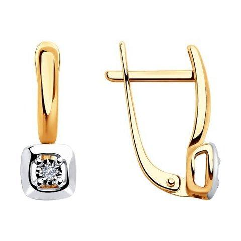 1021319 - Серьги из золота с бриллиантами