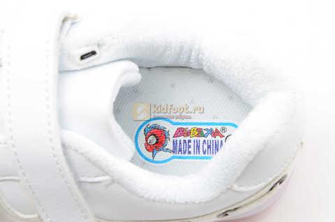 Светящиеся кроссовки с USB зарядкой Бебексия (BEIBEIXIA) для девочек цвет белый. Изображение 12 из 12.