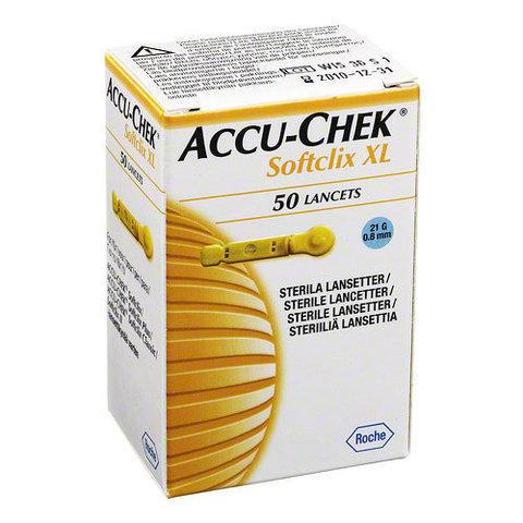 Ланцеты для прокалывателя «Акку-Чек Софткликс XL» (Accu-Chek Softclix), 50 штук