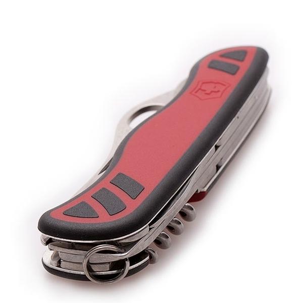 Складной нож Victorinox Forester One-Hand red/black, серрейторное лезвие с петлёй для открывания одной рукой (0.8361.MWC)