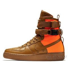 Кроссовки мужские Nike Air Force SF Urban Brown Orange