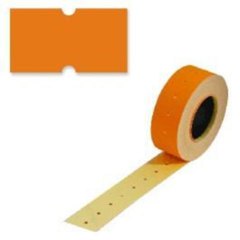 Этикетки 21,5х12 оранжевая, прямой край