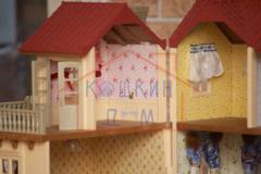 Комплект: кукольный домик Sylvanian families 2752 с обоями и набором для изготовления шторок