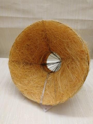Каркас для букета гладкий (сизаль, диаметр: 15 см) Цвет: оранжевый