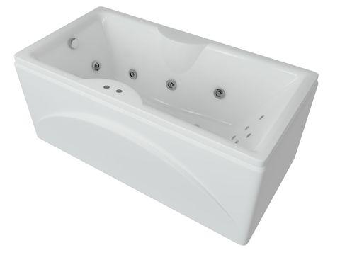 Ванна акриловая Aquatek Феникс 170х75см. на каркасе и сливом-переливом.