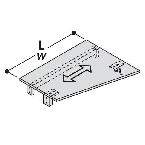 Столешница асимметричная с фурнитурой для крепления LOGIC
