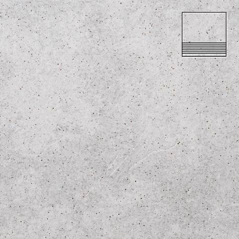 Stroeher - Keraplatte Roccia 837 marmos 300x240x10 артикул 8181 - Клинкерная ступень с насечками без угла