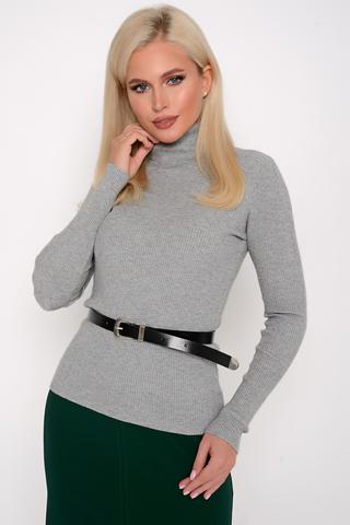 Джемпер (меланж дымка). <p>Модный джемпер (меланж) из мягкого кашемира отлично сочетается с юбкой, брюками и джинсами, создавая стильный ансамбль практичности и утонченности.</p> <p><span>(Один размер: 42-48)</span></p>