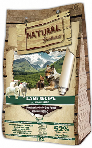 Natural Greatness Lamb Recipe Sensitive сухой корм для собак 2 кг