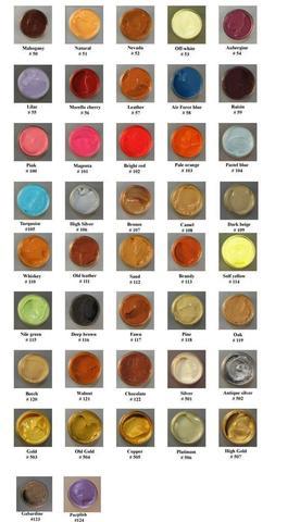 Краска для гладкой кожи кроющая Tarrago COLOR DYE, стекло TDC01, 25мл.  (86 цветов)