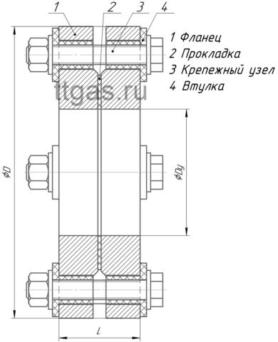 ИФС-65-16 двухфланцевое исп.2 схема