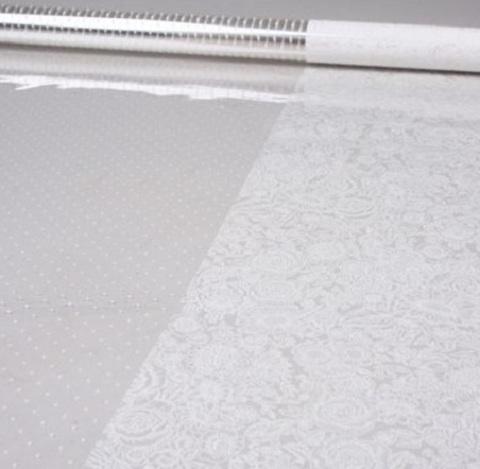Пленка Вернисаж и точки (размер:80см х 7м) Цвет:белый