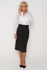 Изящная блузка классического стиля с длинным рукавом. Гармонично сочетается с множеством фасонов брюк и юбок..Длина изделия:44-62 см. 46-63 см. 48-64 см. 50-65 см. Длина рукава : 44р.-52р 60 см.