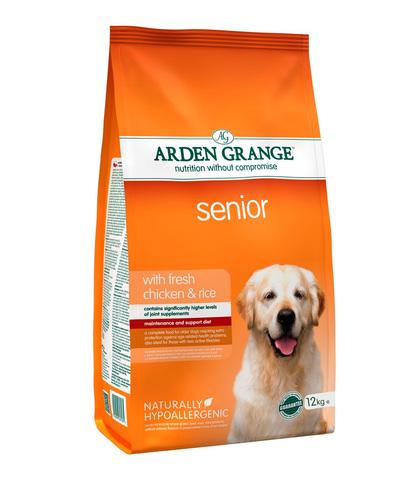 Arden Grange Adult Senior сухой корм для пожилых собак с Курицей и рисом 2 кг