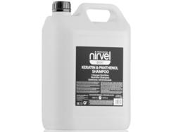 NIRVEL шампунь питательный с кератином и пантенолом для сухих, ломких и поврежденных волос keratin & panthenol shampoo 5000 мл.