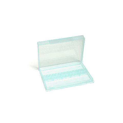 Контейнер для фрез пластиковый (прозрачно-бирюзовый)