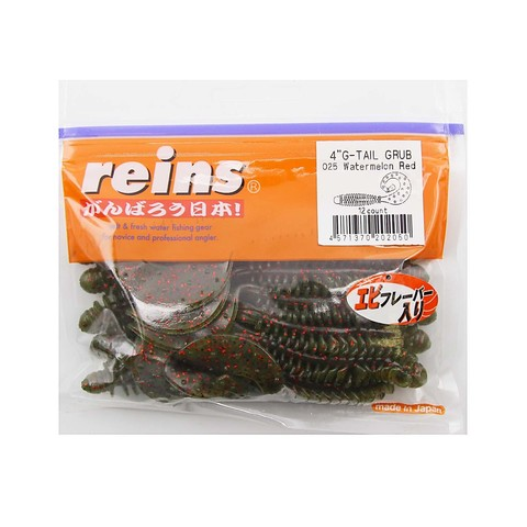 Приманка силиконовая Reins G-Tail Grub 4