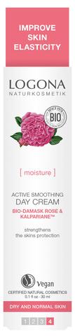 LOGONA Дневной крем для увлажнения и активного разглаживания с Био-Дамасской Розой и комплексом Kalpariane