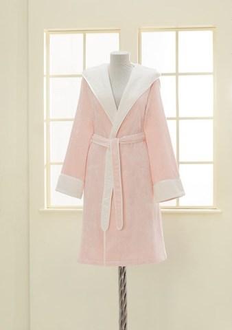 NEHİR - НЕГИР розовый бамбуковый женский халат Soft Cotton (Турция)