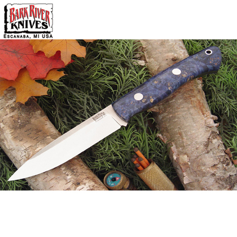 Нож Bark River модель Aurora Blue&Gold Elder Burl