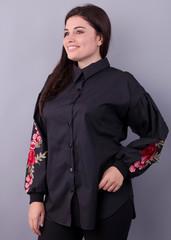 Юсмина. Стильная блуза плюс сайз. Черный.