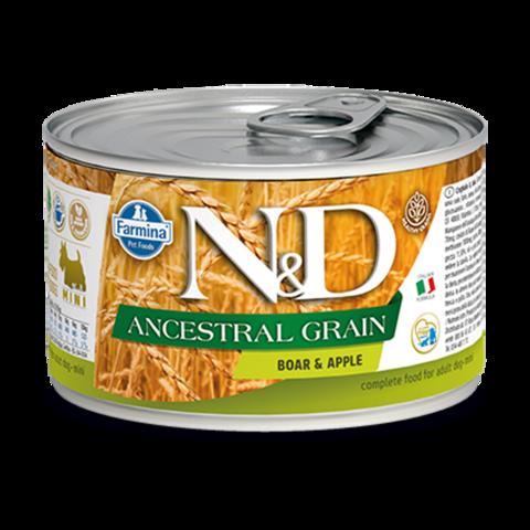 Farmina Dog Ancestral Grain Boar & Apple Mini Консервы для собак мелких пород Низкозерновые с Кабаном и яблоком