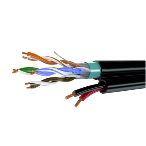 Комбинированный кабель UTPmulti 4pair Cat5e + 2*0.75 (внешний)