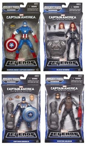Марвел Легенд фигурки Капитан Америка Другая Война - Зимний солдат