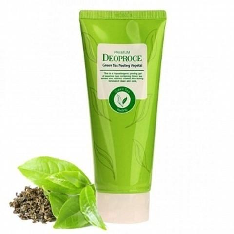 Гель-скатка на основе зеленого чая PREMIUM DEOPROCE GREEN TEA PEELING VEGETAL 170 гр