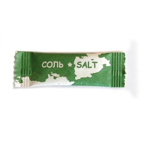 Соль порционная Материк поваренная в стиках по 1 г (800 штук в упаковке)