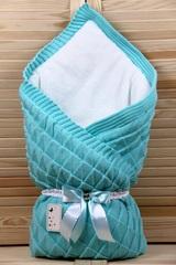 Конверт-одеяло Вязка бирюза