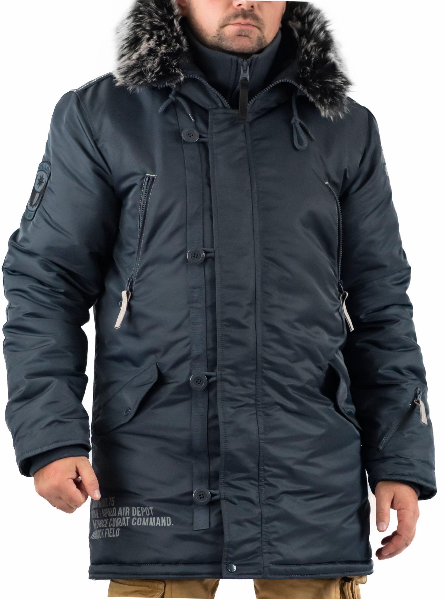 Куртка Аляска  Apolloget Arctic 2019 (стальной синий- steel blue)