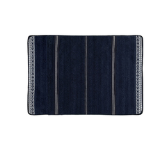 Santorini non-slip bathmat waves / blue navy