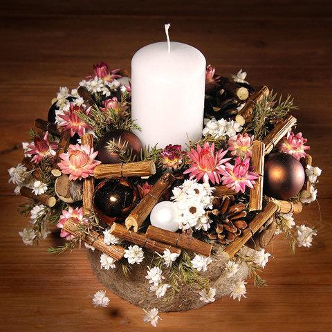 Интерьерная композиция со свечой