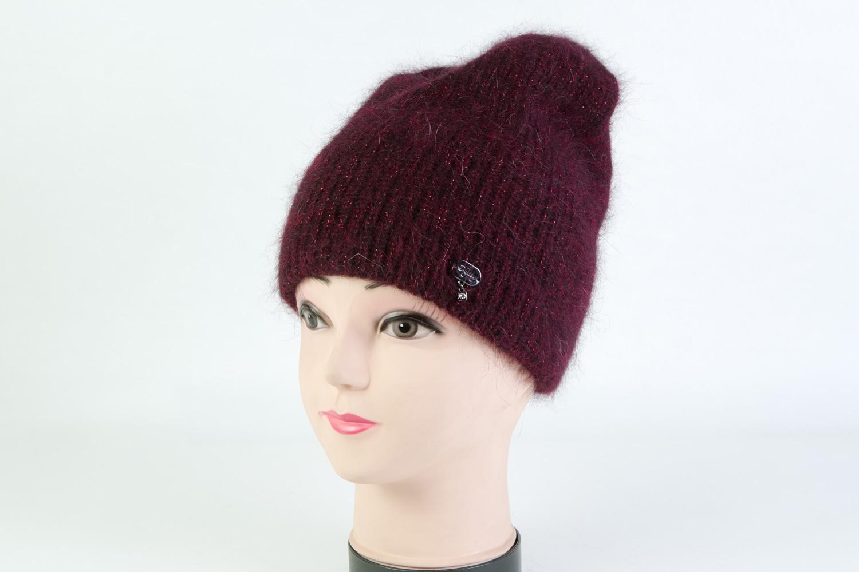 Женская шапка бордовая SH SD24