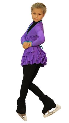 Термокомплект «Бабочка» фиолетовый (юбка+боди+лосины+болеро+чехлы)