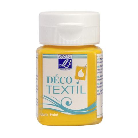 Краска по ткани Lefranc&Bourgeois DECO TEXTIL 50 мл 200, желтый солнечный