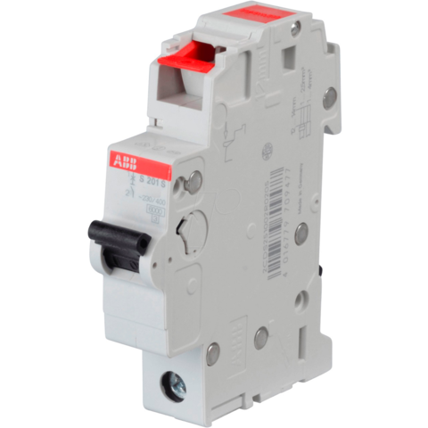 Автоматический выключатель 1-полюсный 6 А, тип  B, 6 кА S201S-B6. ABB. 2CDS251002R0065