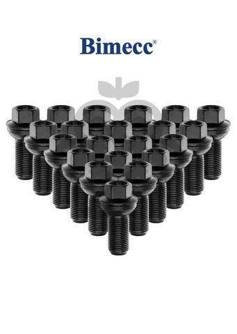Болт колёсный чёрный М15x1.25 длина=27мм ключ=17мм крутящаяся сфера BIMECC PS17Q27-MW-ZN