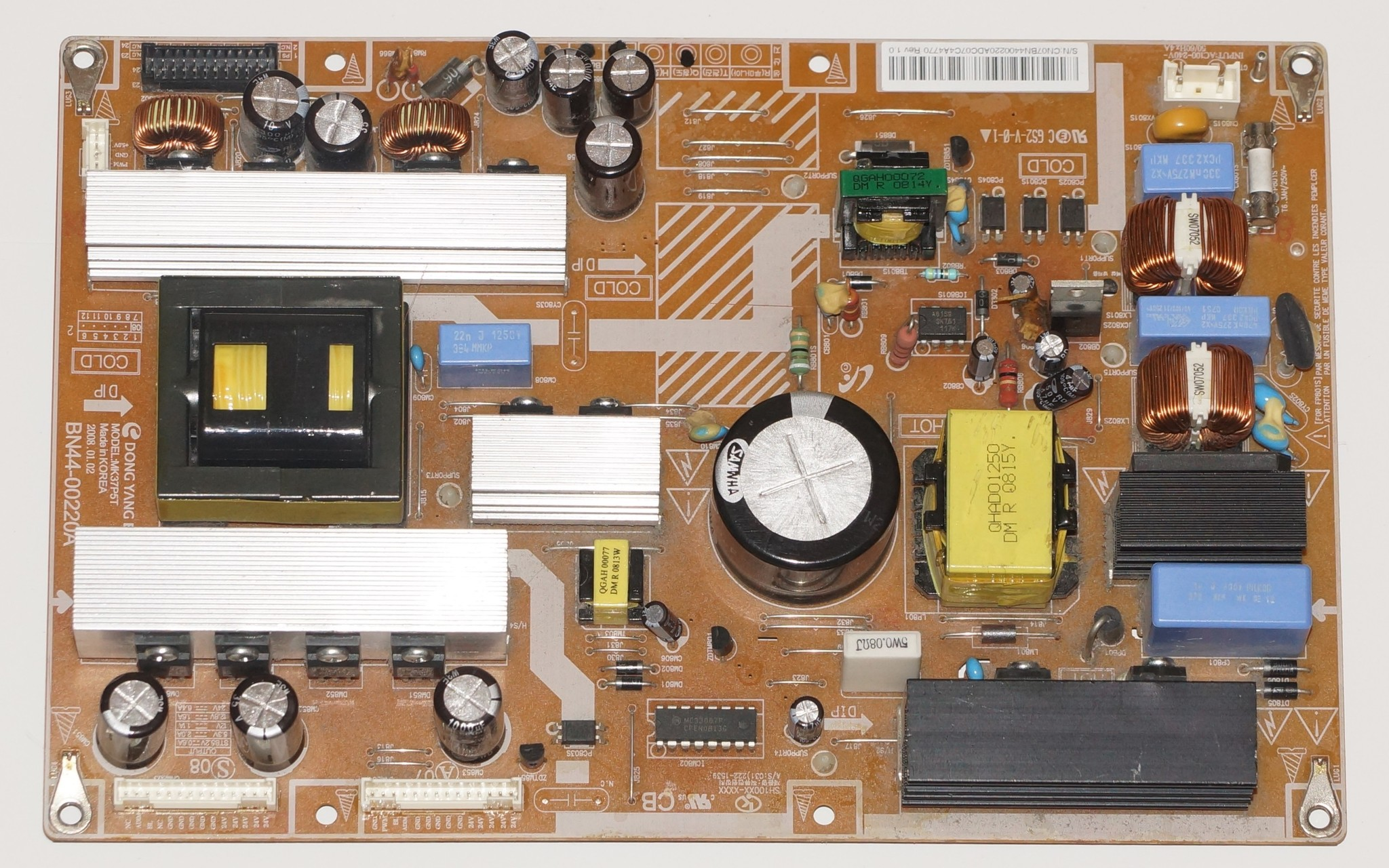 BN44-00220A LE37P5T блок питания телевизора Samsung