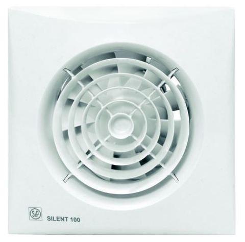 Накладной вентилятор Soler & Palau SILENT-100 CHZ SILVER (датчик влажности)