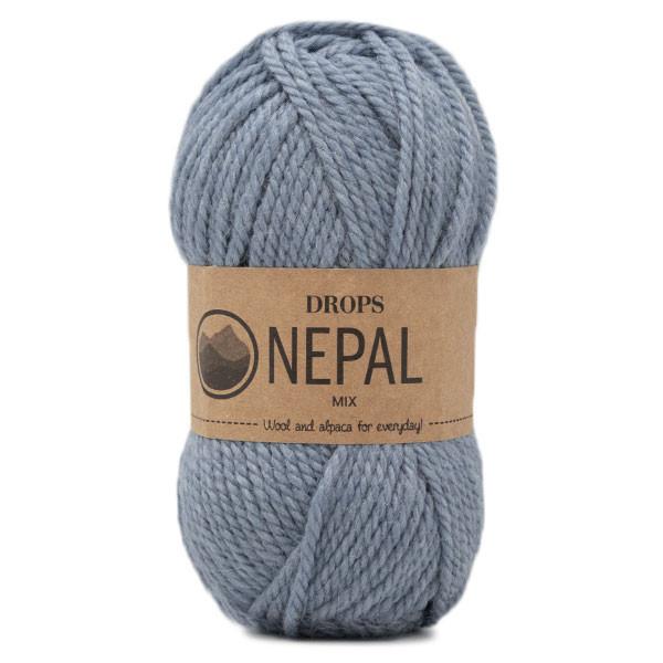 Пряжа Drops Nepal 8913 голубой меланж