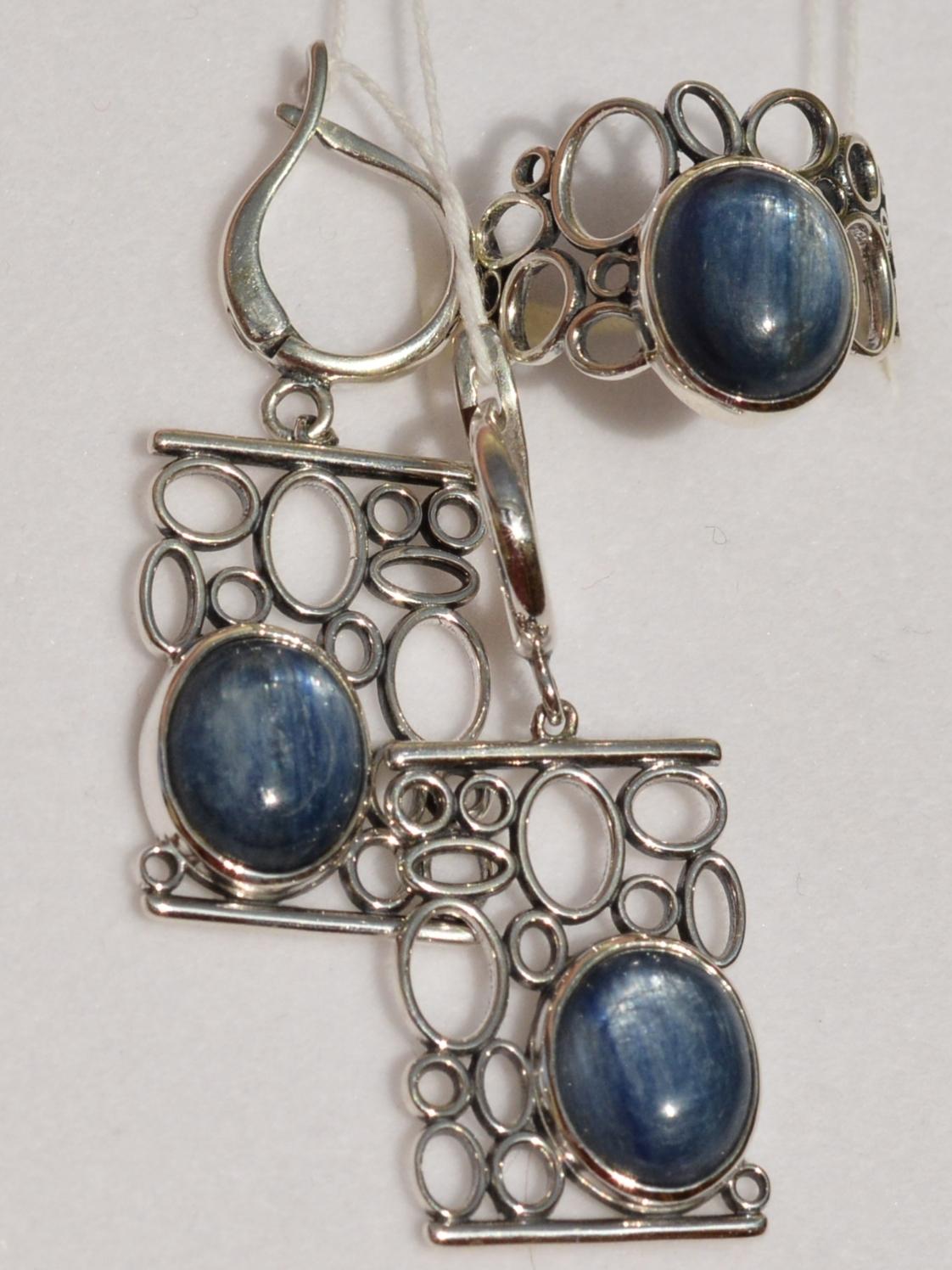 Иволга (кольцо + серьги из серебра)
