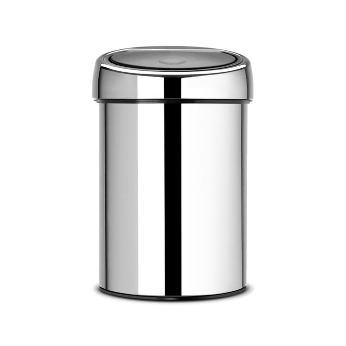Мусорный бак Brabantia Touch Bin (3л), Полированная сталь, арт. 363962 - фото 1
