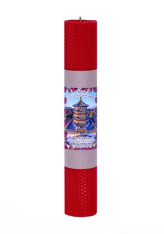 Свеча Императорский дворец красная 30см