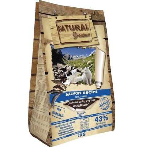 Natural Greatness Salmon Recipe Sensitive Adult Medium & Large сухой корм для собак 2 кг